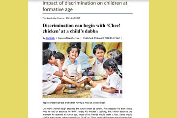 Impact of discrimination on children at formative age