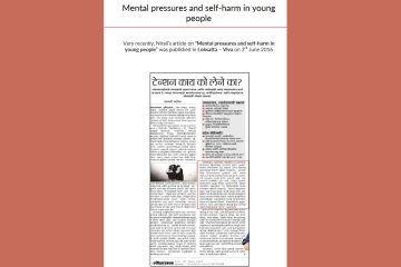Mental pressures and self-harm in young people