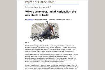 Psyche of Online Trolls