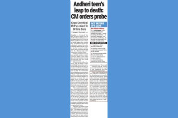 Andheri teen's leap to death: CM orders probe